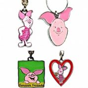 Piglet Key Rings, Genuine Key Rings Choice of Designs